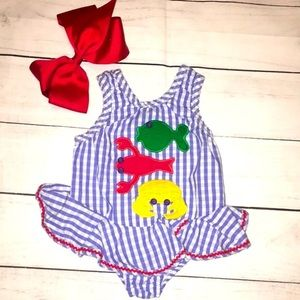 Girl Cotton Bathing Suit The Bailey Boys 12 month